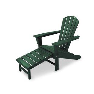 Palm Coast Plastic Adirondack Chair with Ottoman by POLYWOOD?