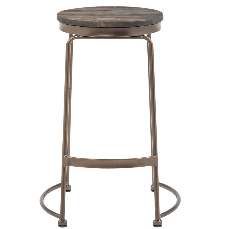"!nspire 26"" Bar Stool  Color: Copper/Elm Wood"