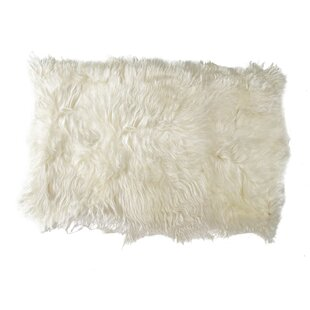 Coupon Fitzgerald Sheepskin White Area Rug By Mercer41