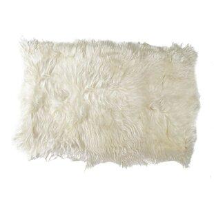 Buy Fitzgerald Sheepskin White Area Rug Mercer41