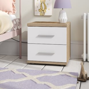 Pascoe 2 Drawer Bedside Table By Mercury Row