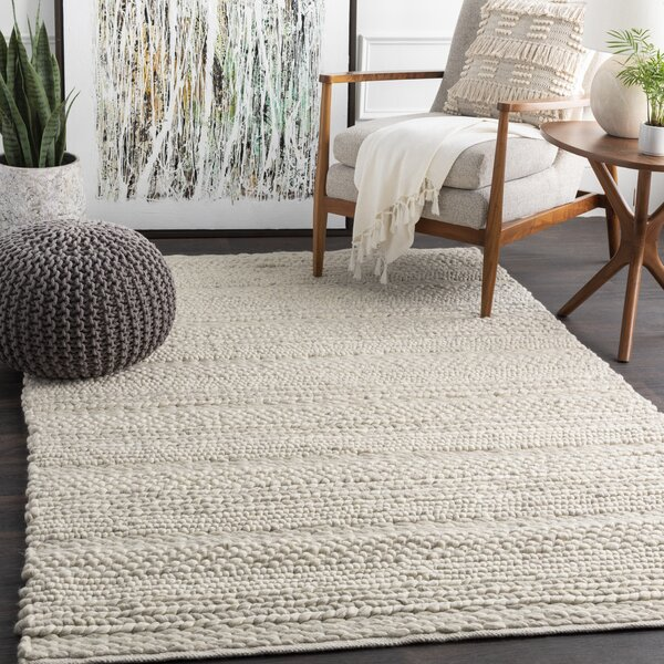 Beachcrest Home Othello Handmade Flatweave Wool Ivory Area Rug Reviews Wayfair Ca