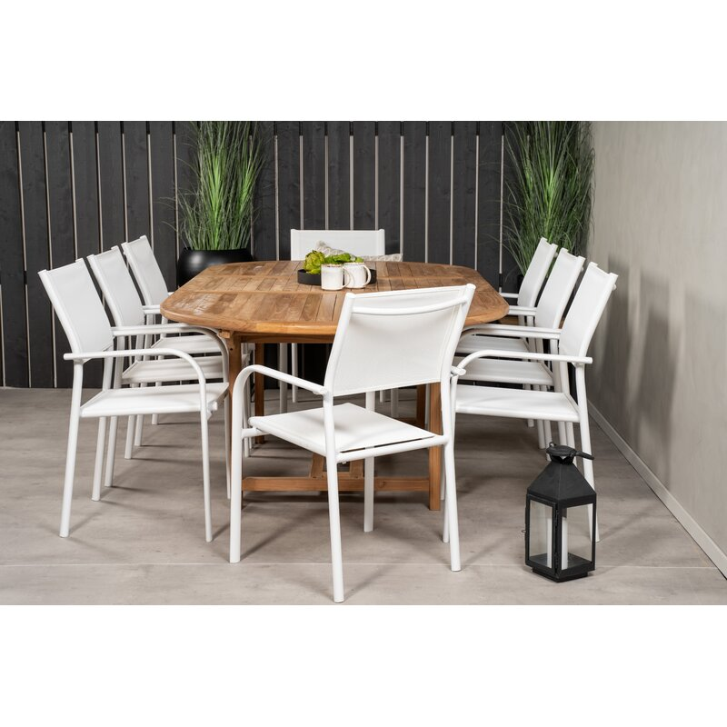 Dakota Fields Baek 8 Seater Dining Set Wayfair Co Uk