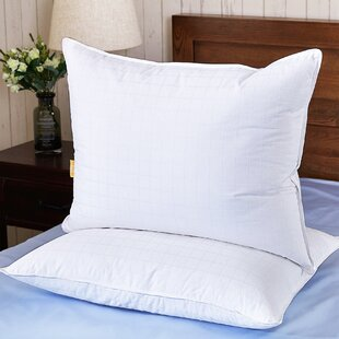 300 Thread Count Triple Chamber Goose Medium Down & Feathers Bed Pillow (Set of 2)
