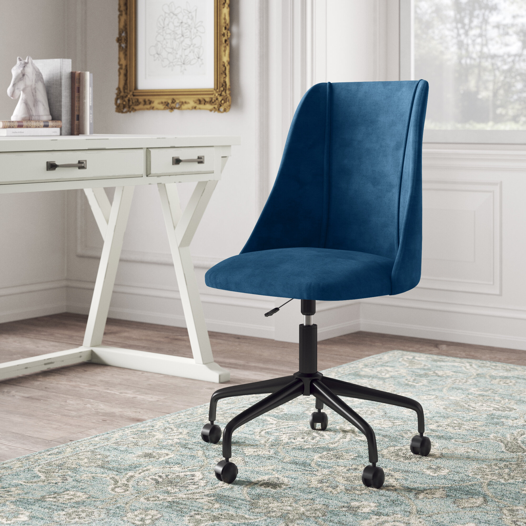 Blue Office Chairs You Ll Love In 2021 Wayfair