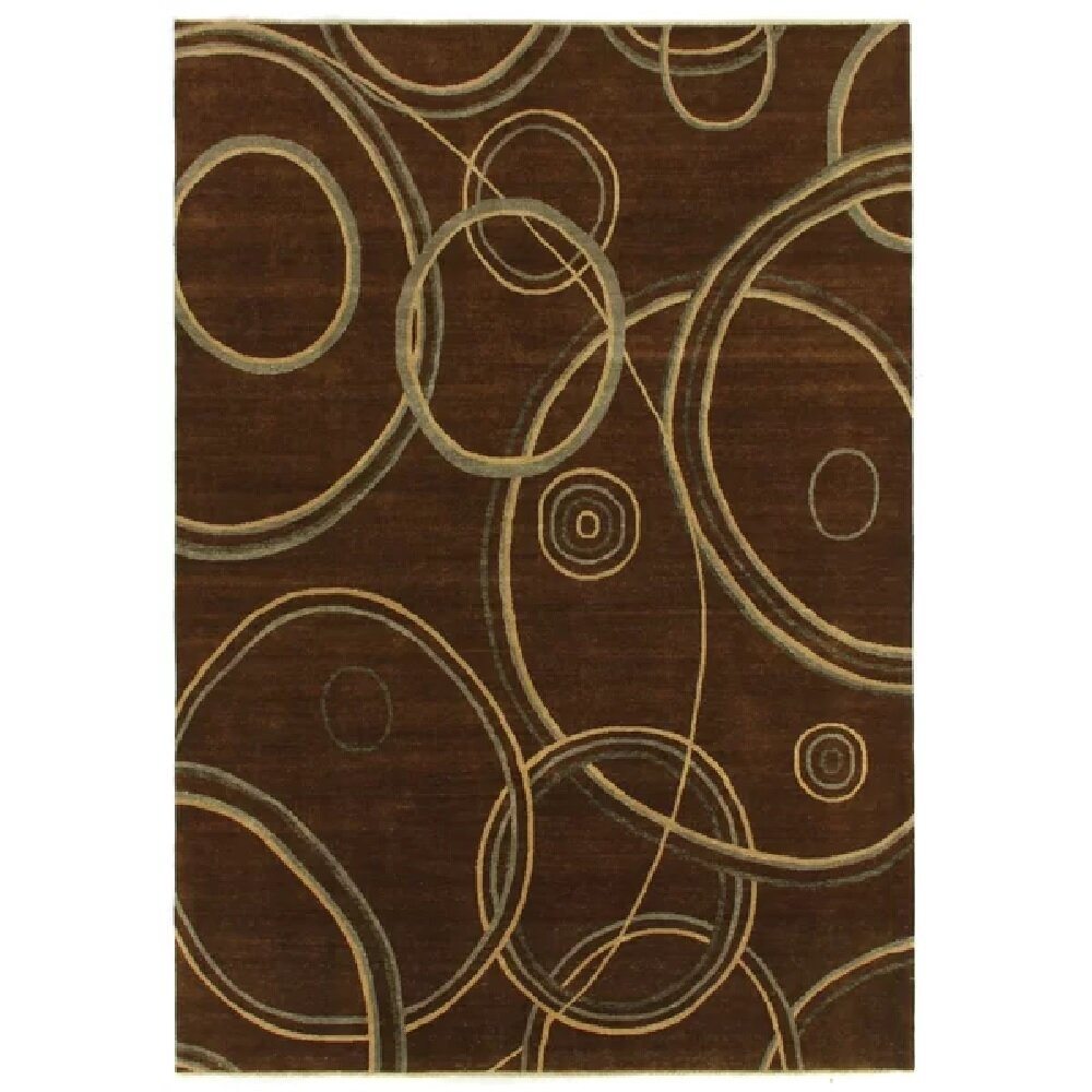 Exquisite Rugs Metropolitan Hand Knotted Wool Brown Area Rug Perigold