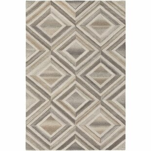 Great Price Pucklechurch Hand-Tufted Cream/White Area Rug By Wrought Studio