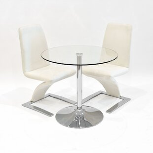 Andromeda Dining Set With 2 Chairs By Metro Lane