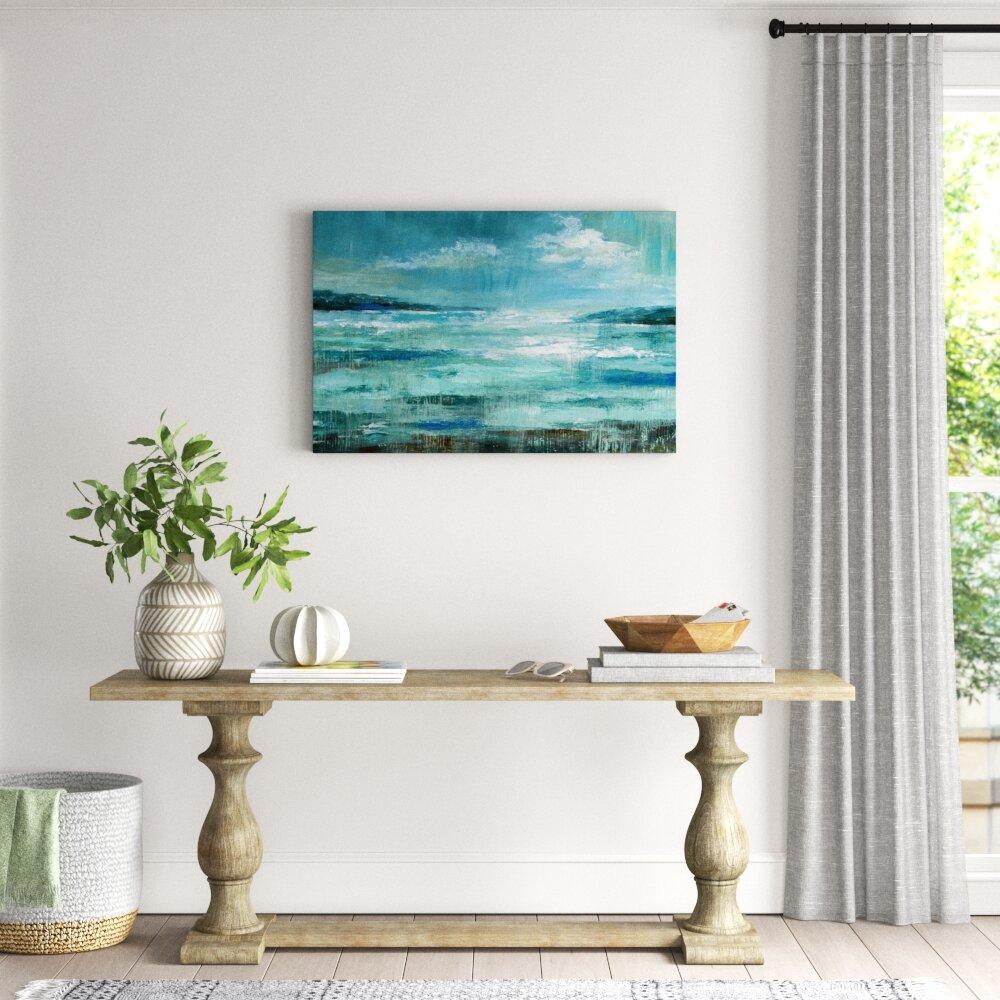 Janvonne Sea Beach Shells Canvas Wall Art Decor Inner Framed Oil Paintings Pictures Modern Decorations for Living Room Bedroom Bathroom Home Decor