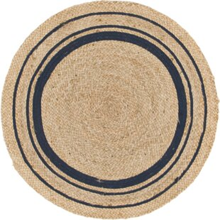 Edgemont Hand-Braided Brown Area Rug by Breakwater Bay