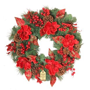 Sparkled Magnolia 60cm Wreath By The Seasonal Aisle