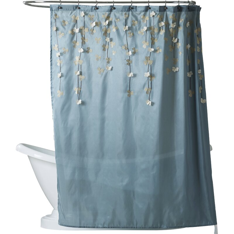 blue_white-riehl-single-shower-curtain by willa-arlo-interiors