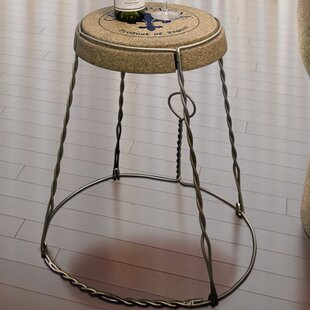 Vinotemp Champagne End Table