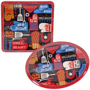 BBQ Bandit 2 Piece Melamine Platter Set