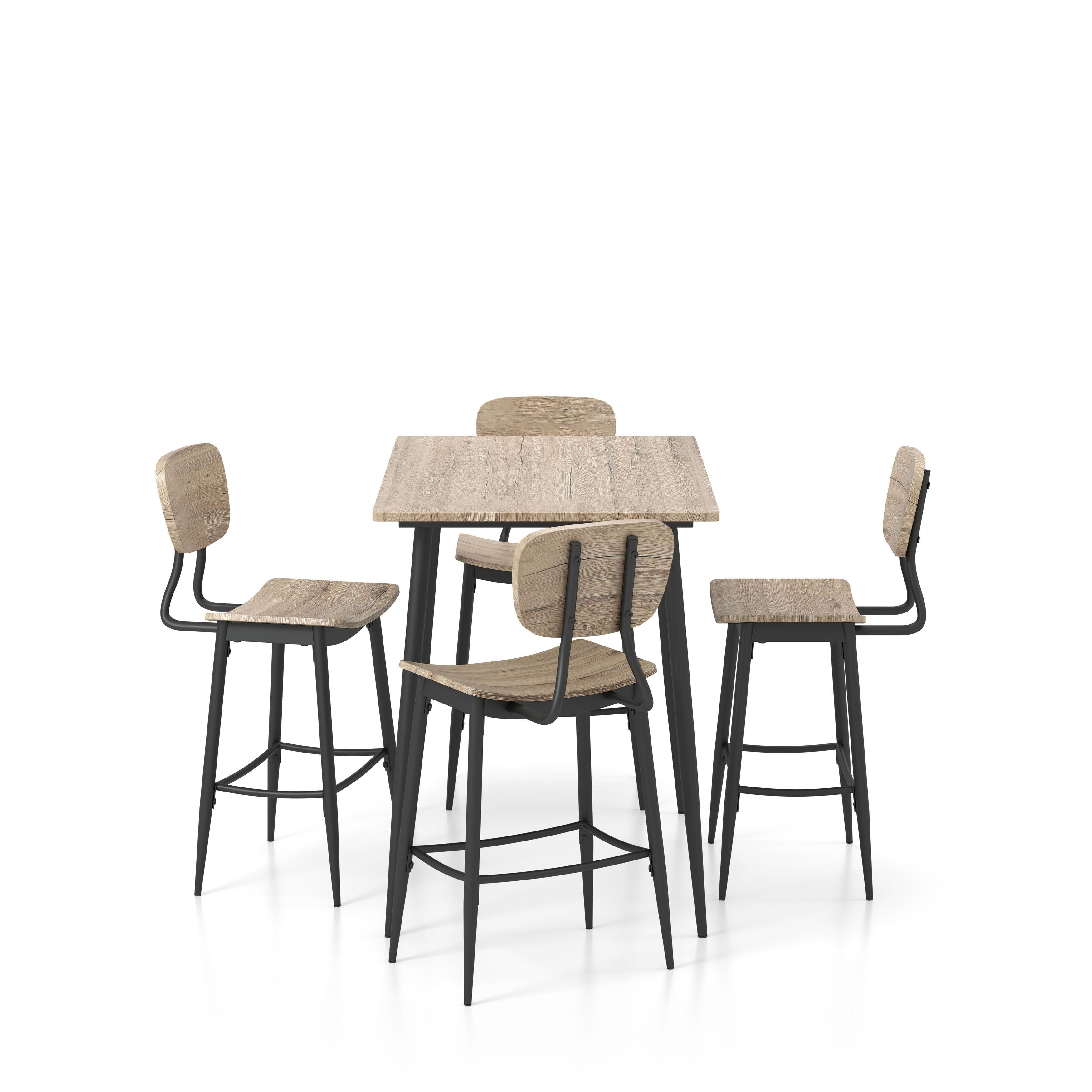 White Cane Outdoor Furniture, Corrigan Studio Pafford 5 Piece Counter Height Dining Set Wayfair