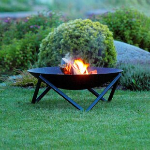Nayeli Steel Wood Fire Pit By Sol 72 Outdoor