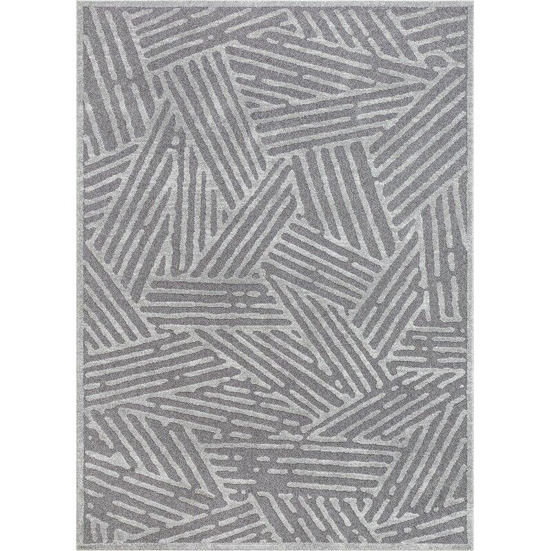Well Woven Malaga Tukker Vintage Modern Geometric Gray Area Rug