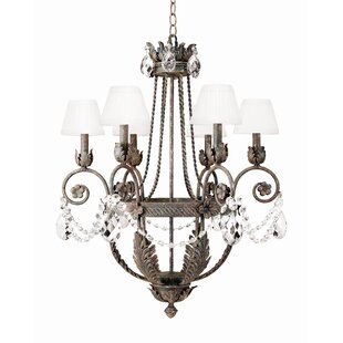 2nd Ave Design Antonia 6-Light Shaded Chandelier