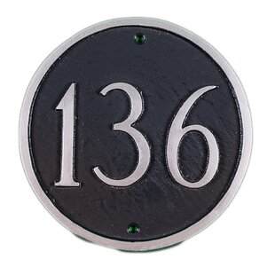 1-Line Address Plaque by Montague Metal Products Inc.