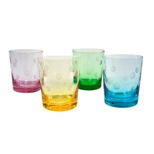 Brumit Polka Dot 12 Oz. DOF Glass (Set of 4)