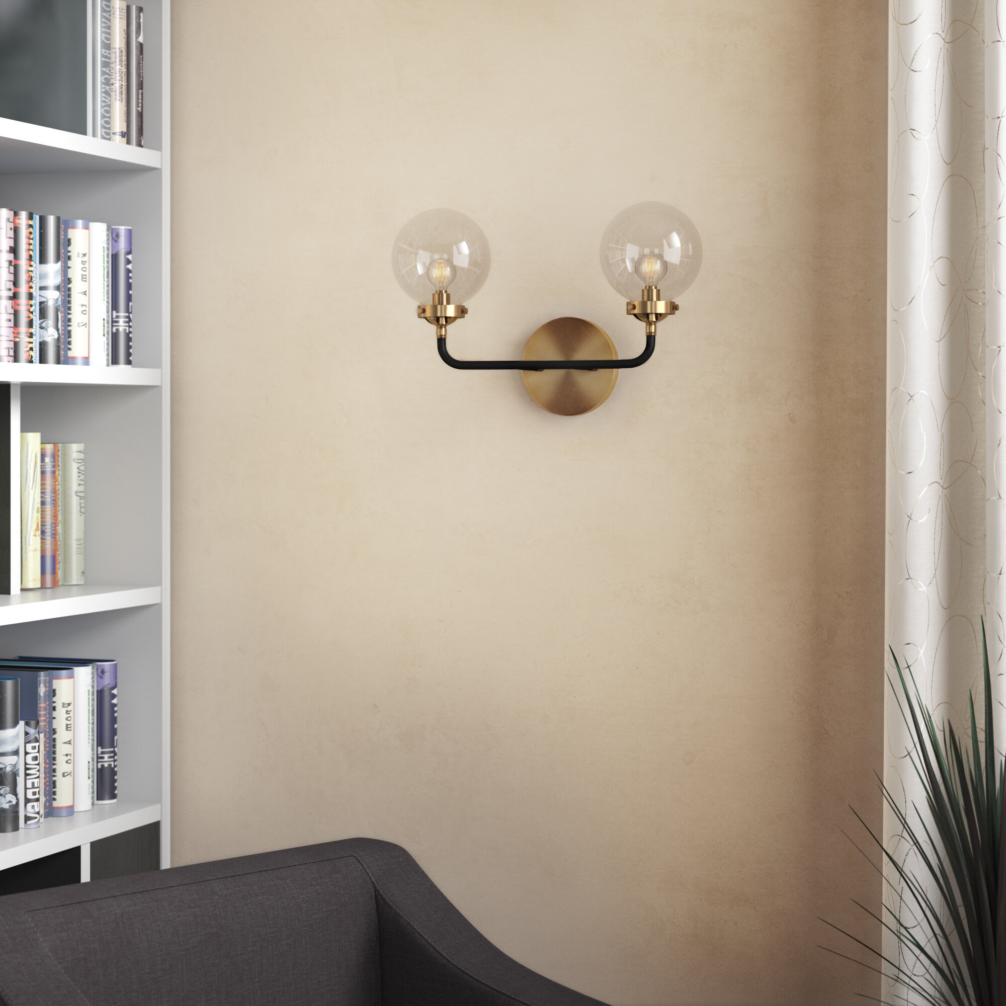 George Oliver Claudio 2 Light Dimmable Armed Sconce Reviews Wayfair