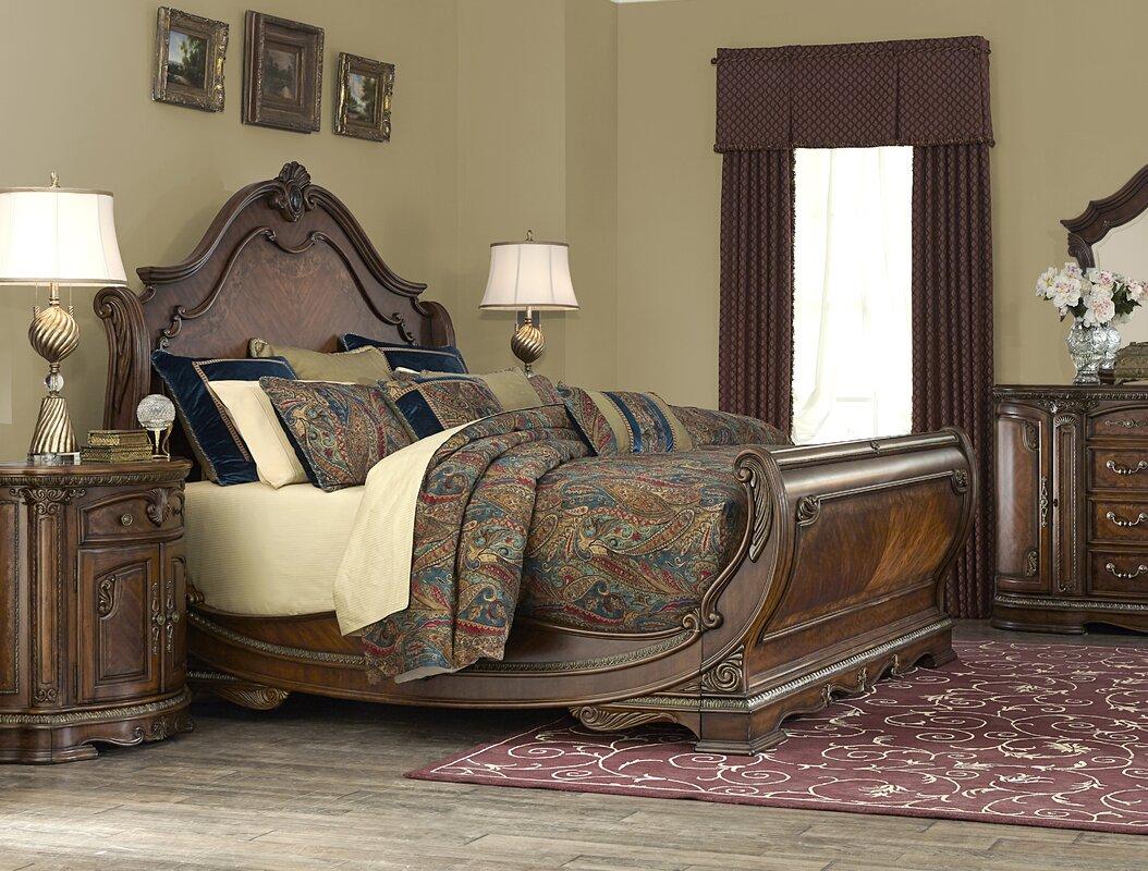 Bella Veneto Sleigh Bed. By Michael Amini