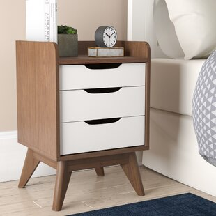 George Oliver Gavin Wood 3 Drawer Nightstand