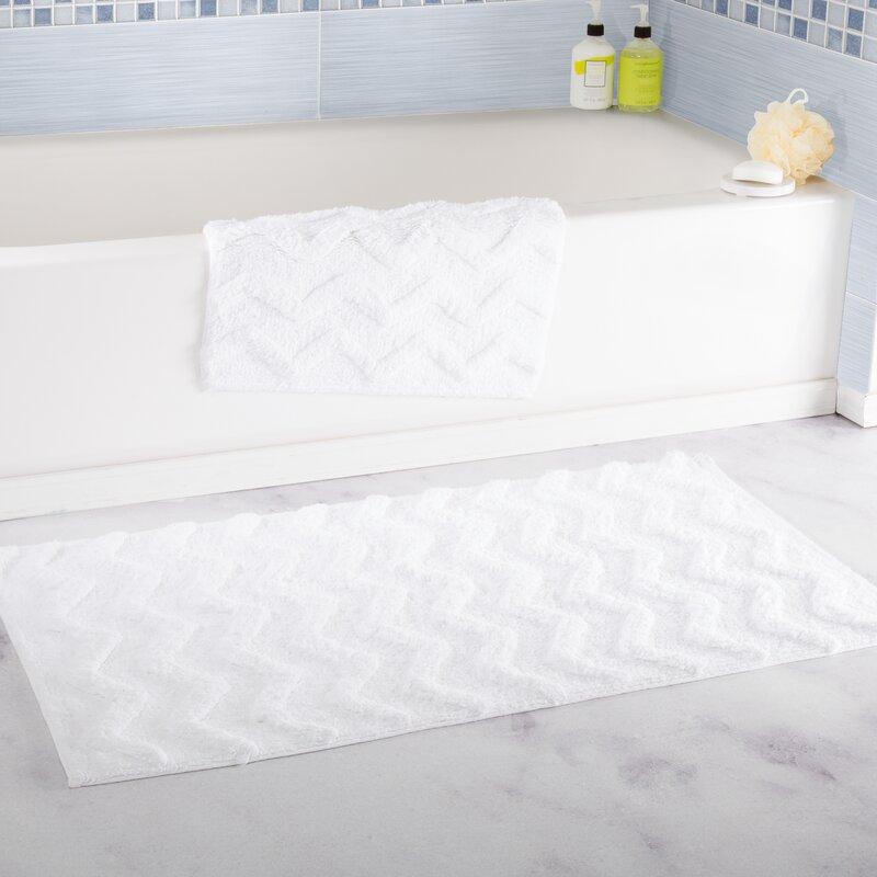 Lavish Home Chevron Bath Rug Reviews