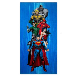 Justice League Heroes 100% Cotton Beach Towel by Crover Comparison