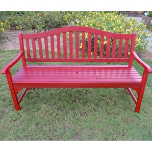 Leone Wooden Garden Bench by Breakwater Bay