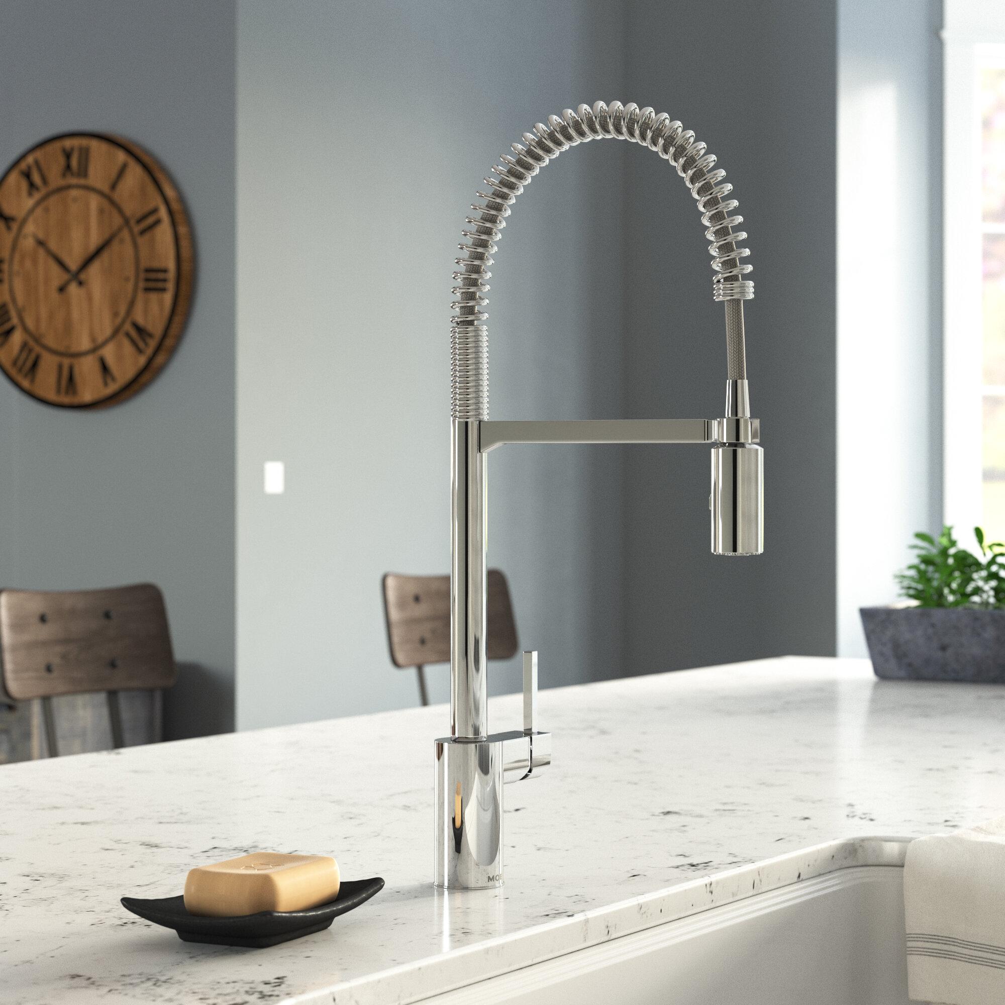 Moen Align Pull Down Single Handle Kitchen Faucet With Duralock Reviews Wayfair Ca