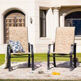 Sartin Patio Dining Chair (Set of 2) by Charlton Home