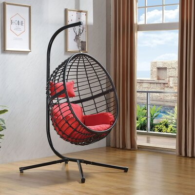 Tinnin Eggplant Swing Chair With Stand by Brayden Studio Today Sale Only