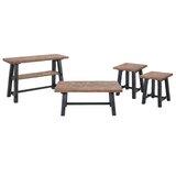 Templin 4 Piece Solid Wood 42L Coffee Table Set by Loon Peak®