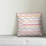 Mcbryde Abstract Wavy Stripes Indoor/Outdoor Throw Pillow