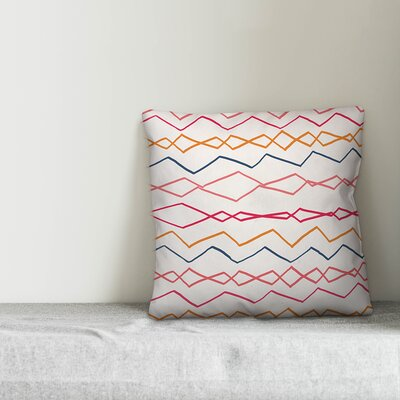 Mcbryde Abstract Wavy Stripes Indoor/Outdoor Throw Pillow by Wrought Studio New