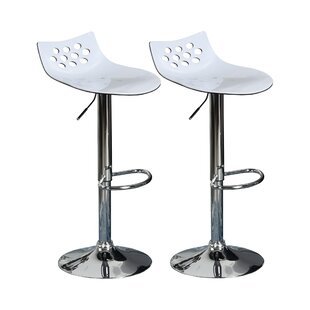 Leverette Height Adjustable Swivel Bar Stool (Set Of 2) By Metro Lane