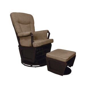 Harrington Swivel Glider and Ottoman by Shermag
