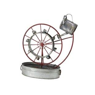 Gracie Oaks Osterley Iron Wheel Water Fountain