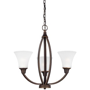 Darby Home Co Irvona 3-Light Shaded Chandelier