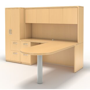 Mayline Group Aberdeen L-Shape Desk Office Suite