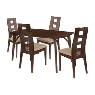 Joel 5 Piece Solid Wood Dining Set by Ebern Designs