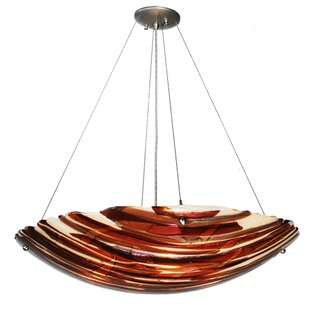 Meyda Tiffany Metro Fusion Marina 4-Light Bowl Pendant