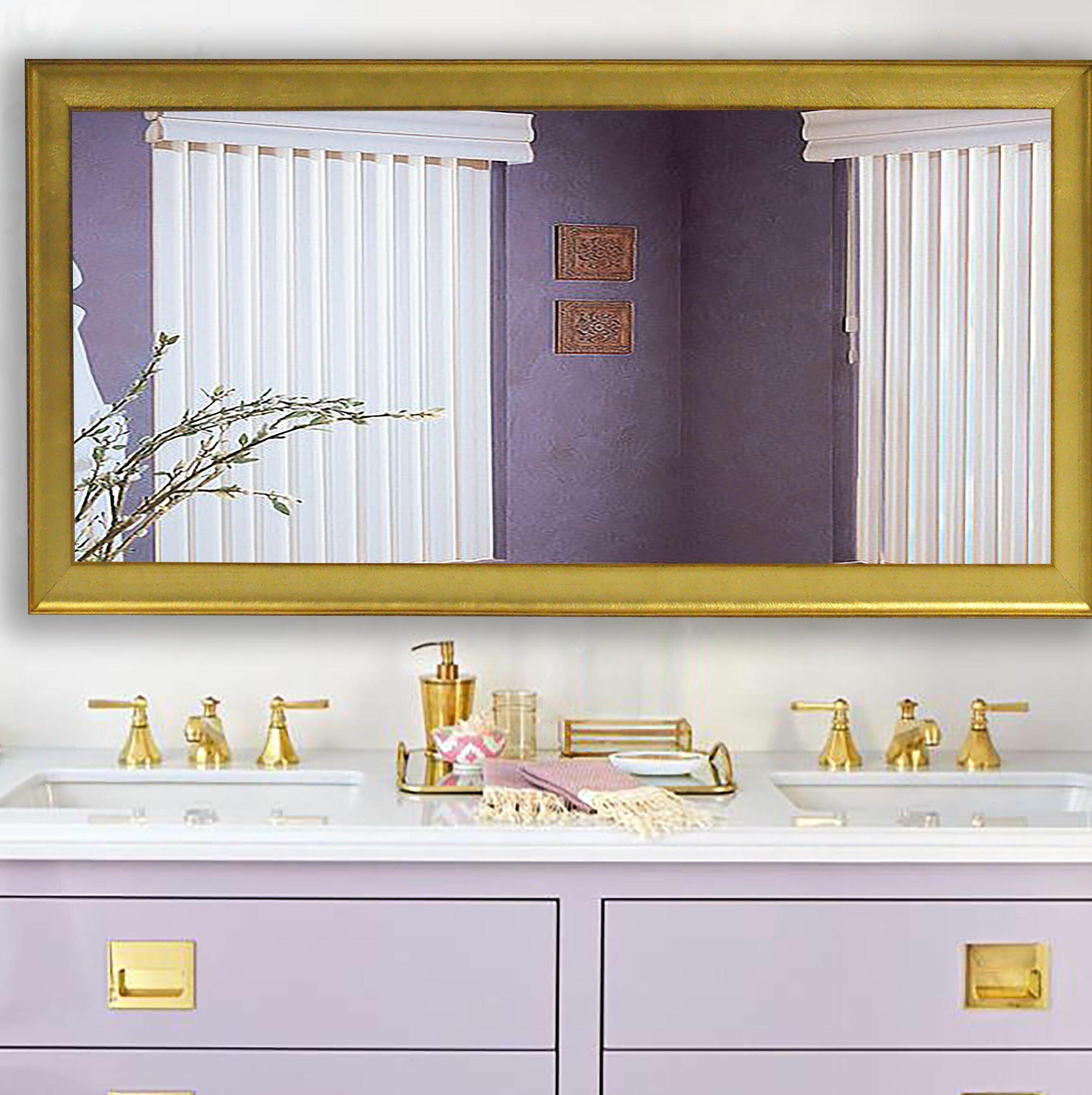 House Of Hampton Nikodemos Glam Bathroom Vanity Mirror Wayfair