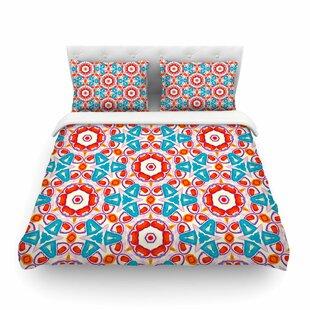Miranda Mol Kaleidoscopic Circles Pattern Featherweight Duvet Cover