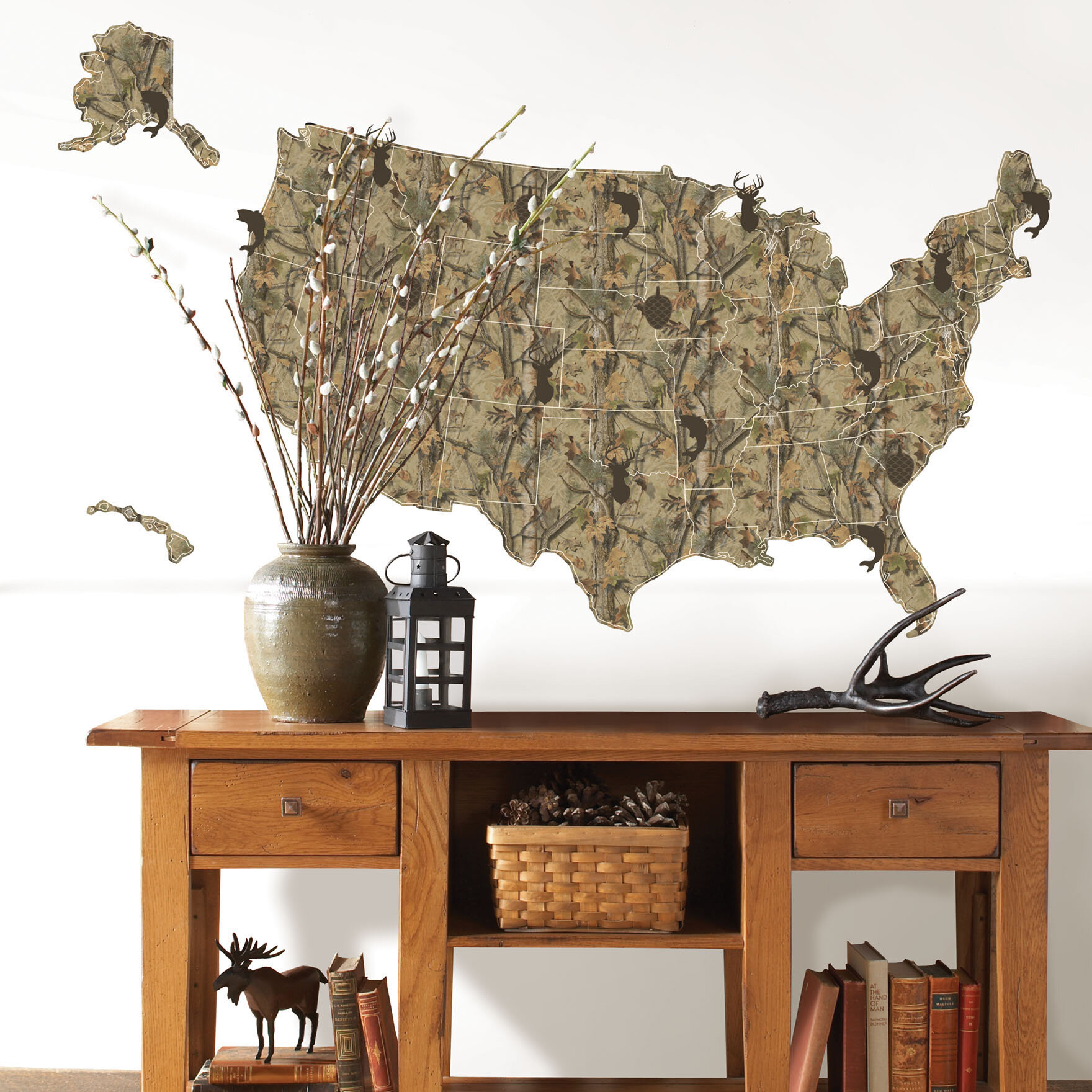 Wallpops Sportsman Us Map Wall Decal Wayfair