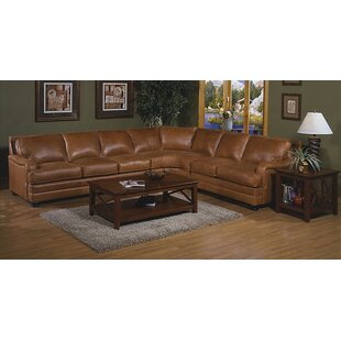 Pantera Leather Reversible Sectional By Omnia Leather