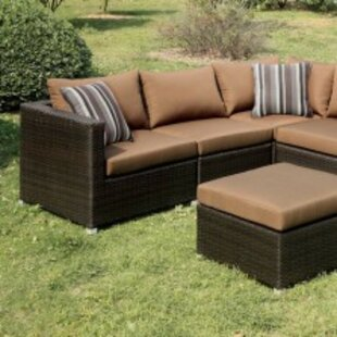 Caitlynne Patio Sectional with Cushions by Orren Ellis