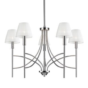 Charlton Home Bocanegra 5-Light Shaded Chandelier