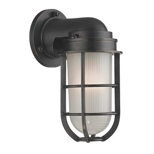 Breakwater Bay Stonewall 1-Light Outdoor Wall Sconce